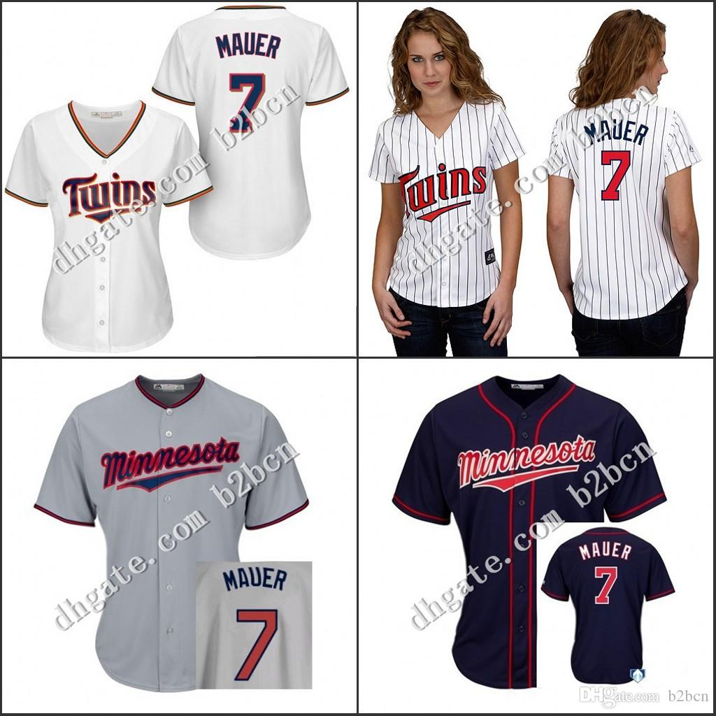 ffff39c38f7 ... 2017 Cheap Authentic Women Minnesota Twins Jersey Ladies 7 Joe Mauer  Baseball Jerseys Girl All Stitched ...
