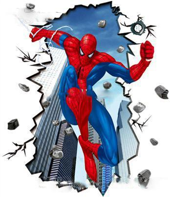 Spiderman Wall Art large matte pvc amazing jump spiderman wall stickers for kids