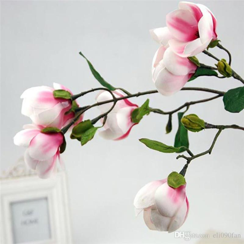 Silk magnolia flowers wholesale choice image flower decoration ideas 2018 85cm artificial magnolia plant silk fake flowers gift home 2018 85cm artificial magnolia plant silk mightylinksfo