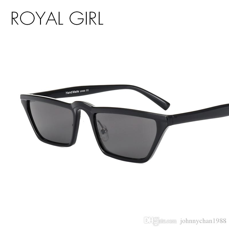aa518a05461 ROYAL GIRL Women Cat Eye Sunglasses Classic Brand Designer Vintage Flat Top  Small Acetate Frame Sunglasses SS526 Sunglasses Online with  10.76 Piece on  ...