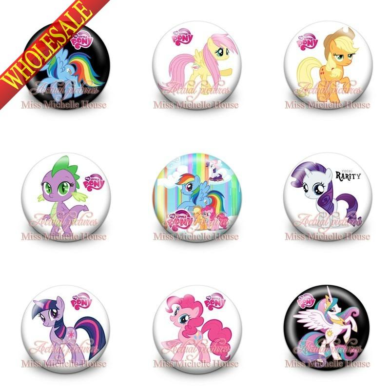 2018 my little pony buttons brooch pins 3cm 1 2inch fashion button