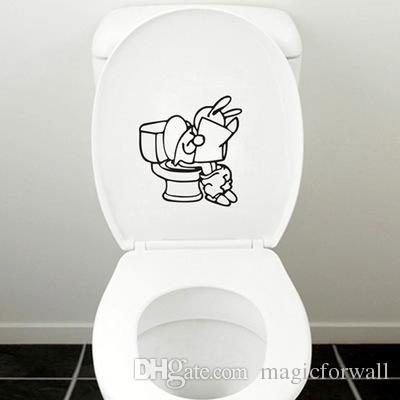 Смешной туалет наклейка творческий туалет стиральная комната украшения искусства росписи обои творческий Closestool декор наклейка плакат микс заказ