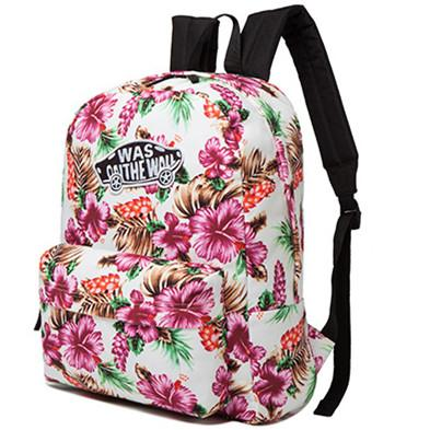 2019 White Sinensis Flower Day Pack Was Brand Canvas School Bag