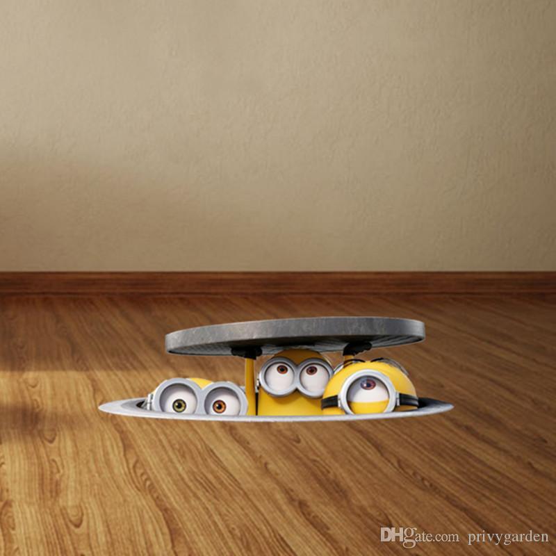 NieNie 3D мультфильм стикер стены DIY канализационные стены стикеры для детей номеров спальня пвх наклейки автомобилей Muraux плакат украшения дома