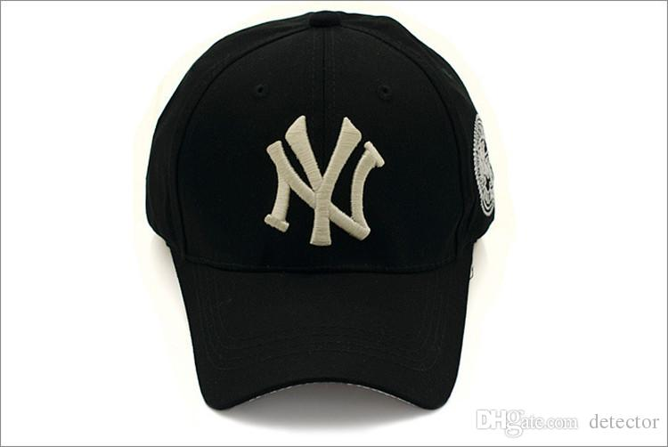 b73647f3ebd 2016 Baseball Cap NY Embroidery Letter Sun Hats Adjustable Snapback ...