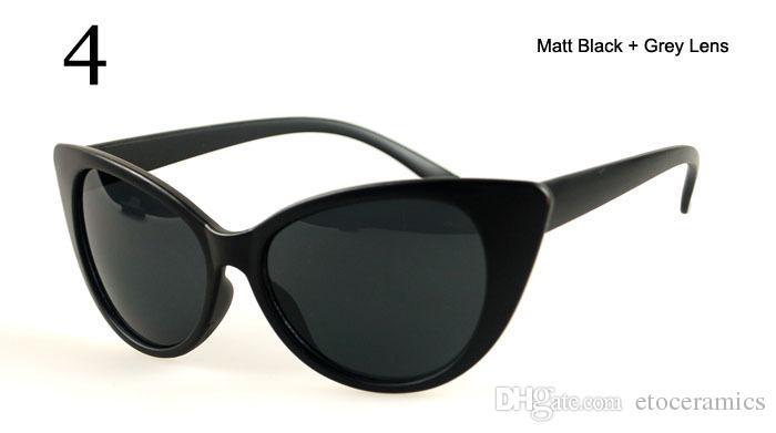 Women's Cat Eye Sunglasses Retro Classic Designer Vintage Fashion Shades Black for option