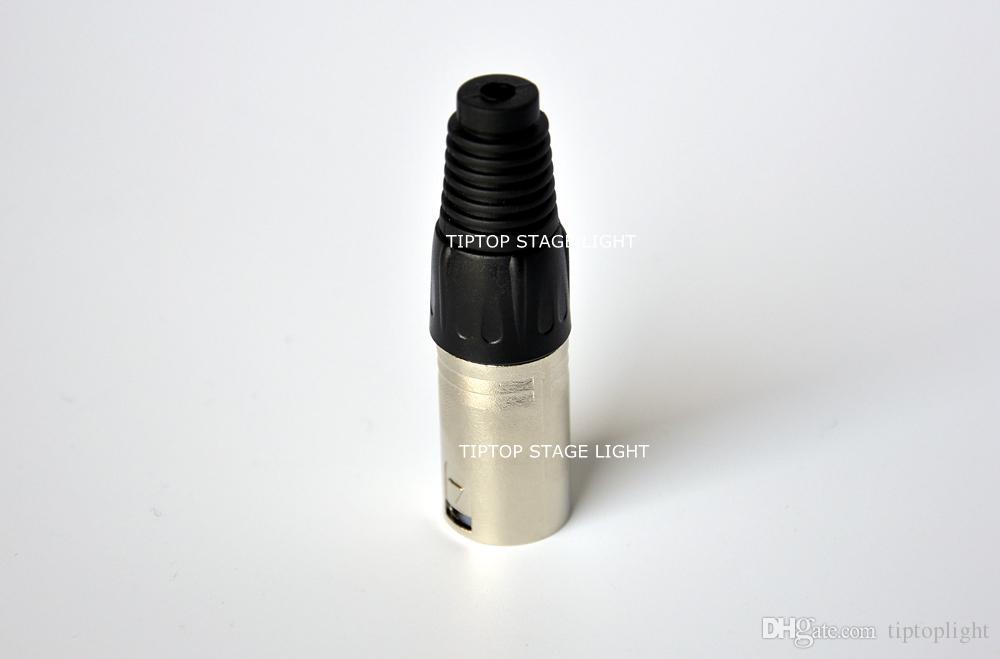 Günstigen Preis 40 XLOT Bühnenbeleuchtung DJ Kabel 3 Pin Stecker DMX 512 Bühnenbeleuchtung Keine Wasserdichte Schwarz + Weiß Farbe Aluminium Kopf