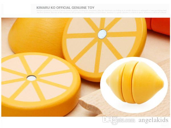 Children's Toys Suit Of A Cut Fruit Game To Cut Wooden Balls Wooden Vegetables Educational Toys Play House Manufacturer Direct Selling Heat