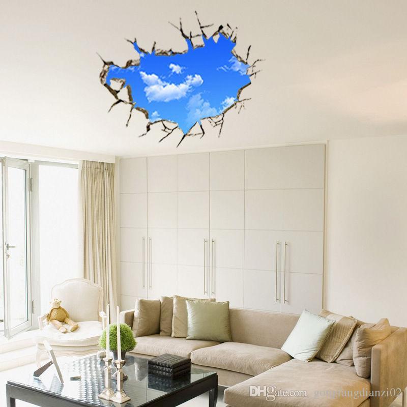 Großhandel Gebrochene Sky 3d Wandbild Entfernbare Wand Aufkleber Kunst  Vinyl Aufkleber Aufkleber Raum Dekor Von Gonglangdianzi02, $5.88 Auf  De.Dhgate.