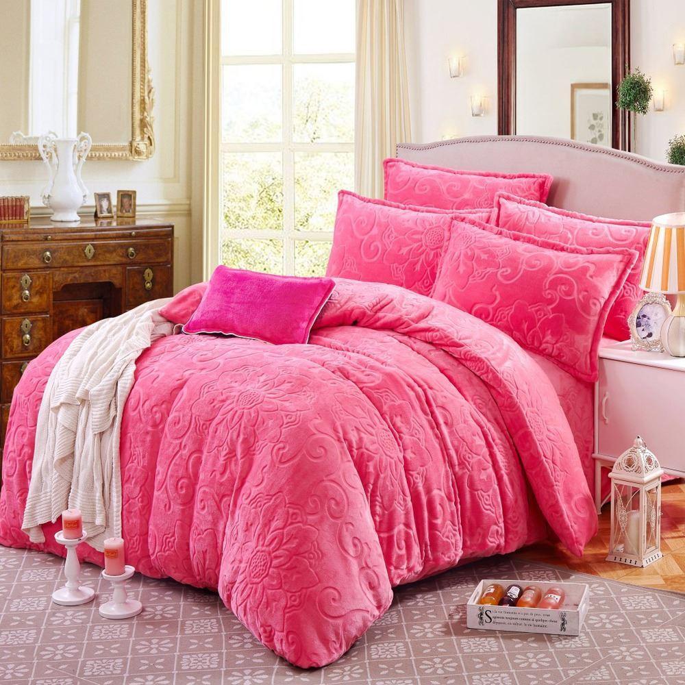 hot 10 pounds thick warm gold mink bedding set cashmere denim upgraded version phalle velvet duvet cover quilt no comforter sets throw blankets online big