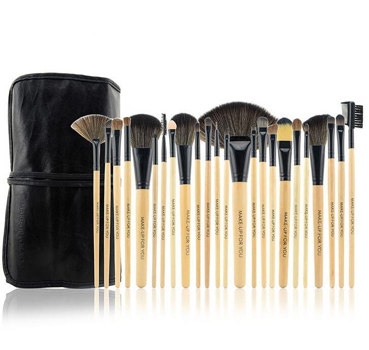 Luxury Professional Makeup Brushes Set Charming Burlywood Cosmetic Eyeshadow Brushes Dhl ...