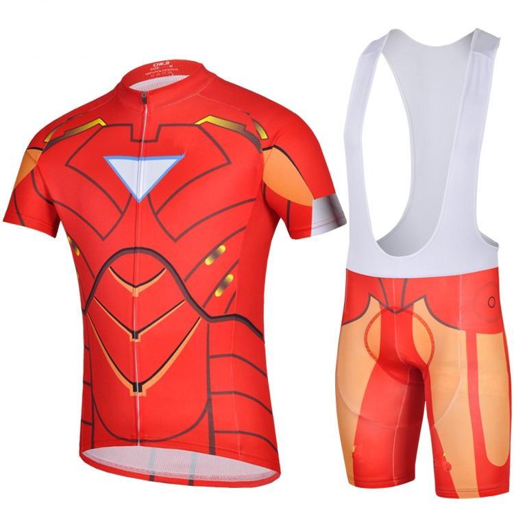 The Avengers League Ironman Pro Cycling Jersey And Bib Shorts