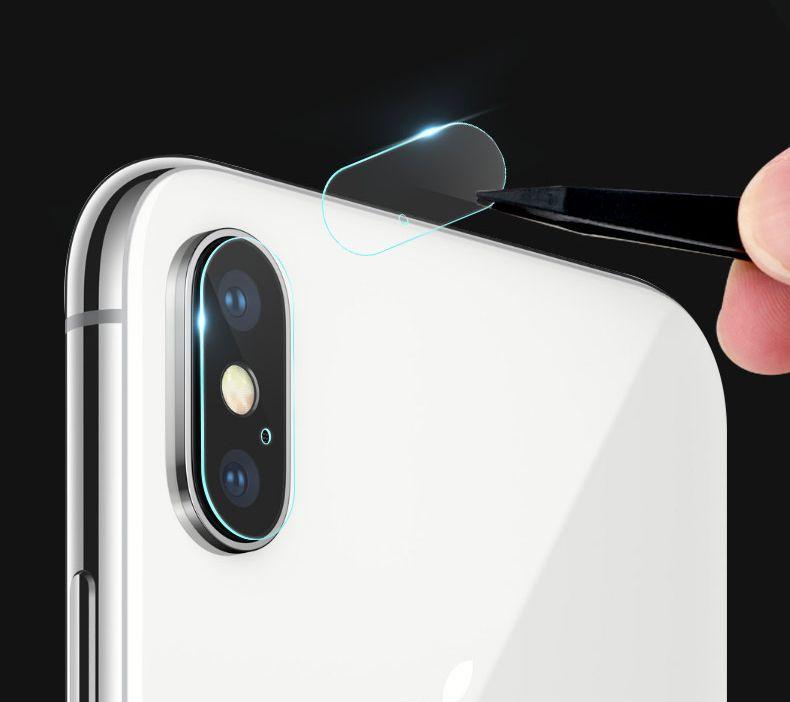 Protector de cámara para iphone x lente de la cámara trasera Protector de pantalla de protección de vidrio cubierta completa Película de cobertura para Iphone X