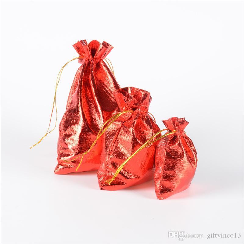 Sacchetti regalo rosso argento oro lucido Sacchetti regalo in tessuto con cordino Sacchetti piccoli gioielli Sacchetti regalo bambini