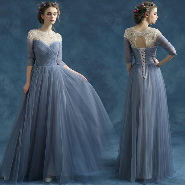 Grey Color Prom Dresses