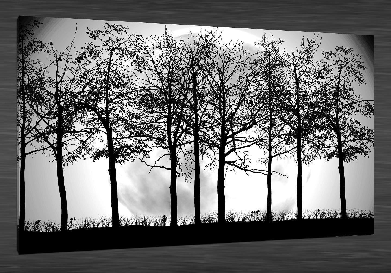 Tree Silhouette Painting On Wall Www Pixshark Com