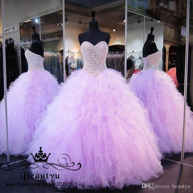 Großhandel Luxus Perlen Perlen Sweet 16 Quinceanera Kleider Licht ...