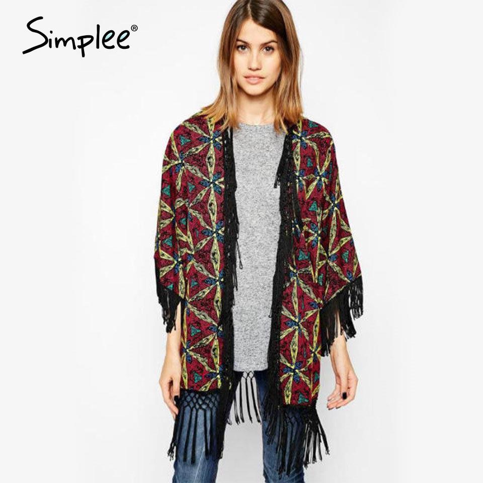 Discount Flower Printed Cotton Kimono Cardigan Crochet Hook ...