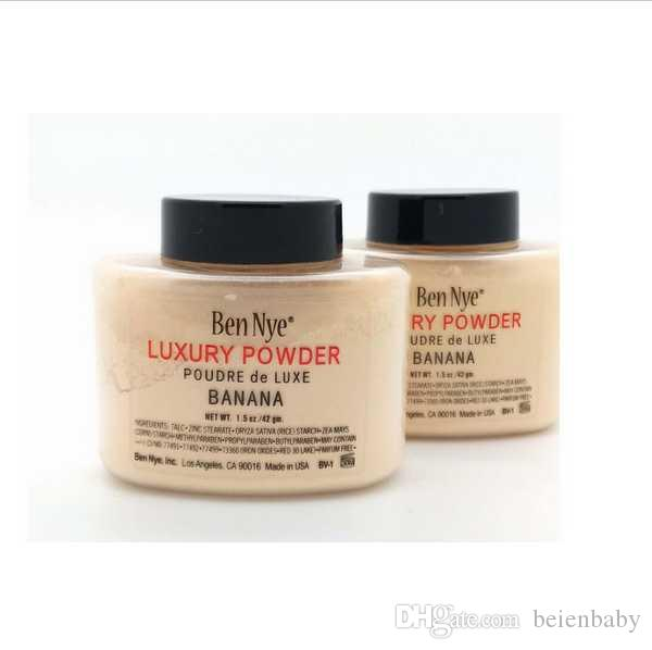 Ben Nye Luxury Powder 42g/85g New Natural Face Loose Powder Waterproof Nutritious Banana Brighten Long-lasting with Series Num