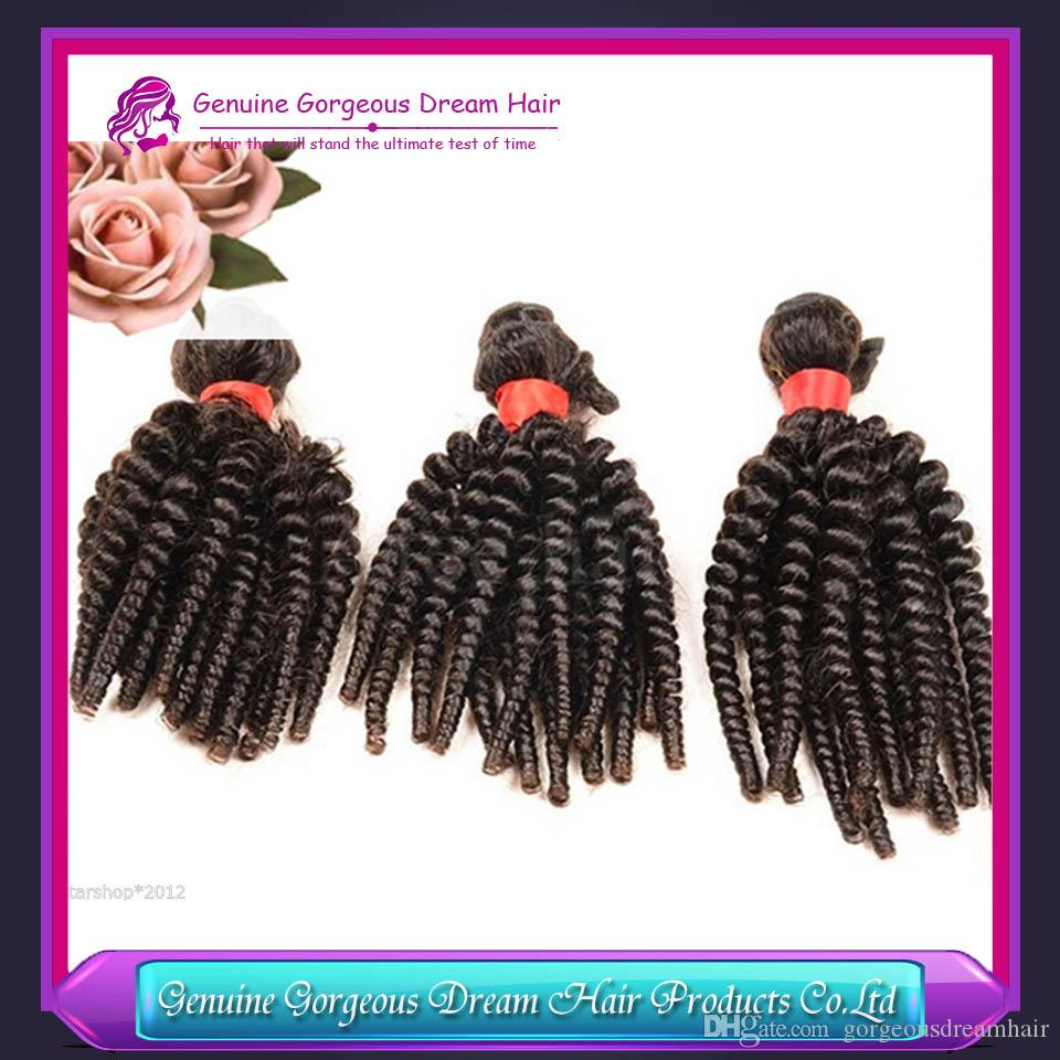 Spring curl Weft Aunty Funmi Bouncy Spring Curl Brazilian Funmi Hair Best Selling Brazilian Curly Human Hair Bundles