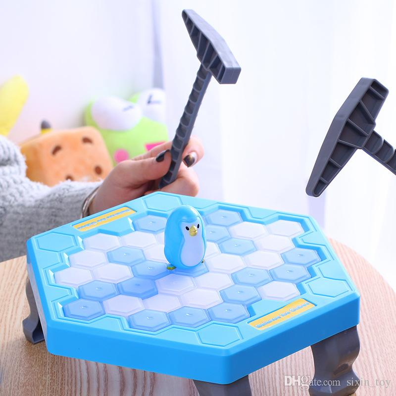 Hot Sale MINI Ice Breaking Save The Penguin Family Fun Game Penguin Trap Activate Funny Table Game Interactive Entertainment