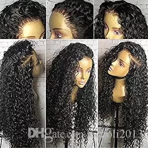Siyah Kadınlar için 360 Dantel Peruk 150% Yoğunluk Kıvırcık prepluck 360 Dantel Frontal Peruk Virgin İnsan Saç Peruk Bebek Saç ile 14 inç
