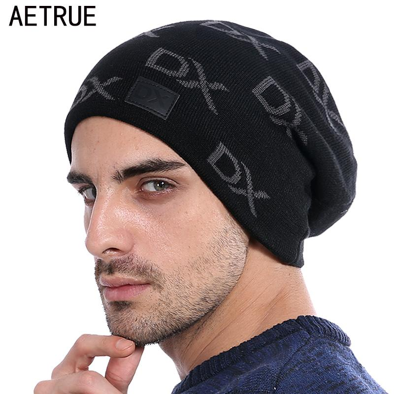 e0122719c17 AETRUE Skullies Beanies Men Knitted Hat Winter Hats For Men Women Bonnet  Fashion Caps Warm Baggy Soft Brand Cap Beanie Men S Hat Beanie Hoodies From  Crazyxb ...