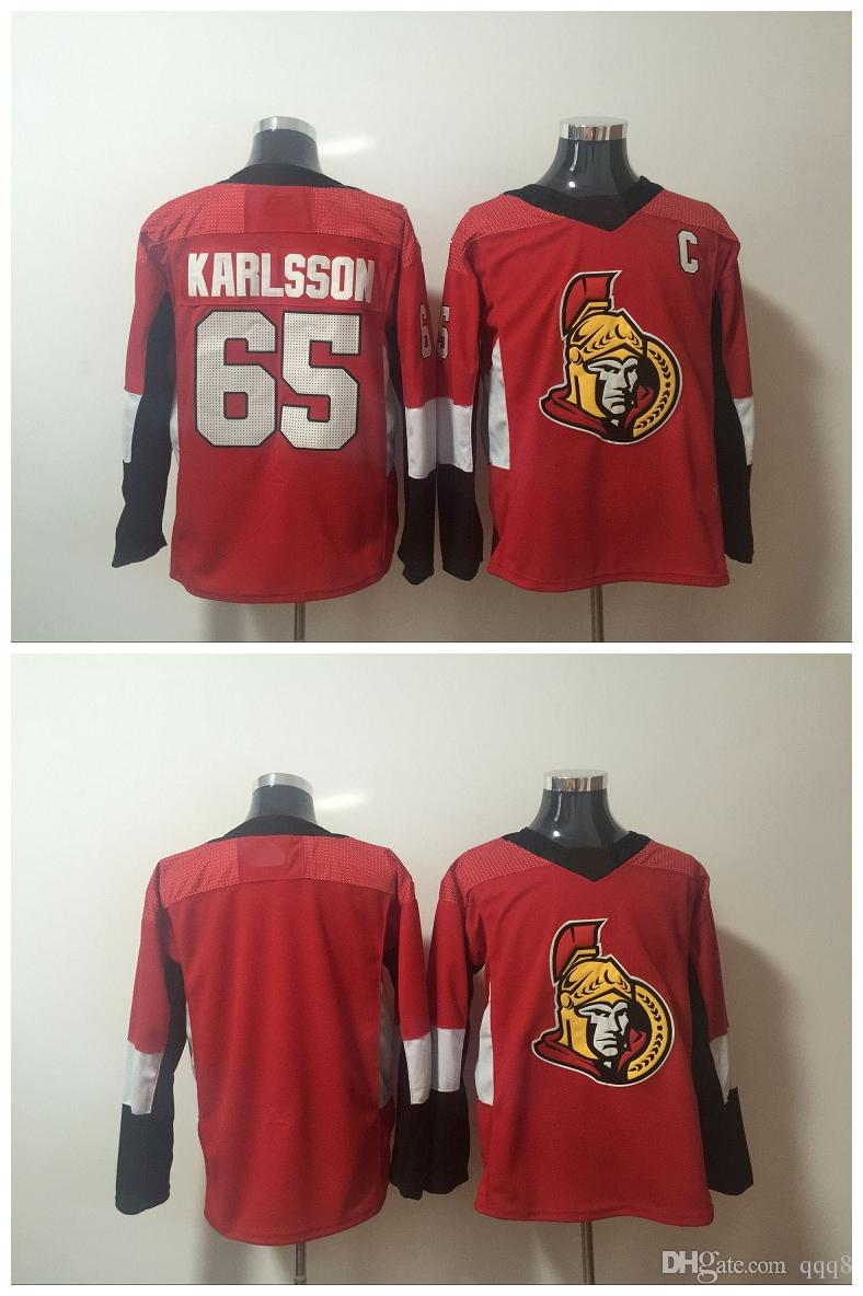 finest selection a1b88 82319 2017-2018 Season Ottawa Senators Jersey 65 Erik Karlsson Red No Name Number  Blank Authentic Stitched Hockey Jerseys Mix Order !