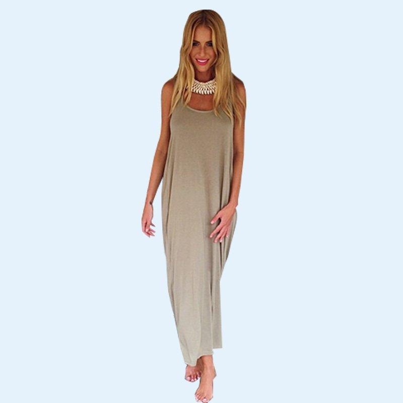 83bc430d77a Boho Chic Cotton Maxi Dress Summer Style Plus Size Clothing Women s ...