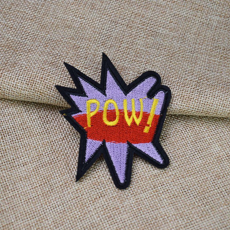 Slang POW Aufnäher für Kleidung Taschen Eisen-on Transfer Applikationen Patch für Garment DIY nähen auf Stickerei-Abzeichen