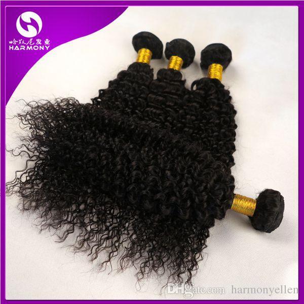 말레이시아 머리 확장 더블 씨실 곱슬 곱슬 처리되지 않은 머리 직조 페루 곱슬 머리 믹스 길이 8