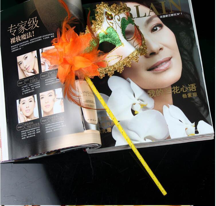 Kadın El Parti Cadılar Bayramı Yüz Maskeleri Bayanlar Yarım Yüz Masquerade Maskeleri Bar Sopa Ile Meslektaşları Parti Kulübü Gösteri Süslemeleri