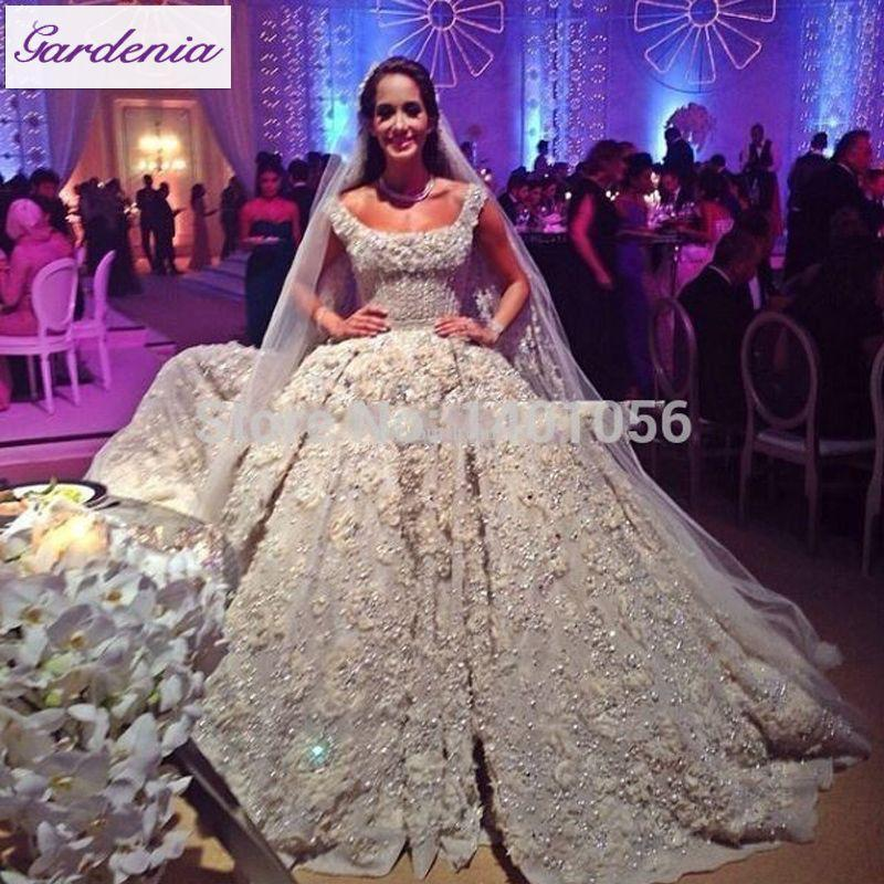 Gorgeous Ball Gown Wedding Dress Luxury Arabia Bridal