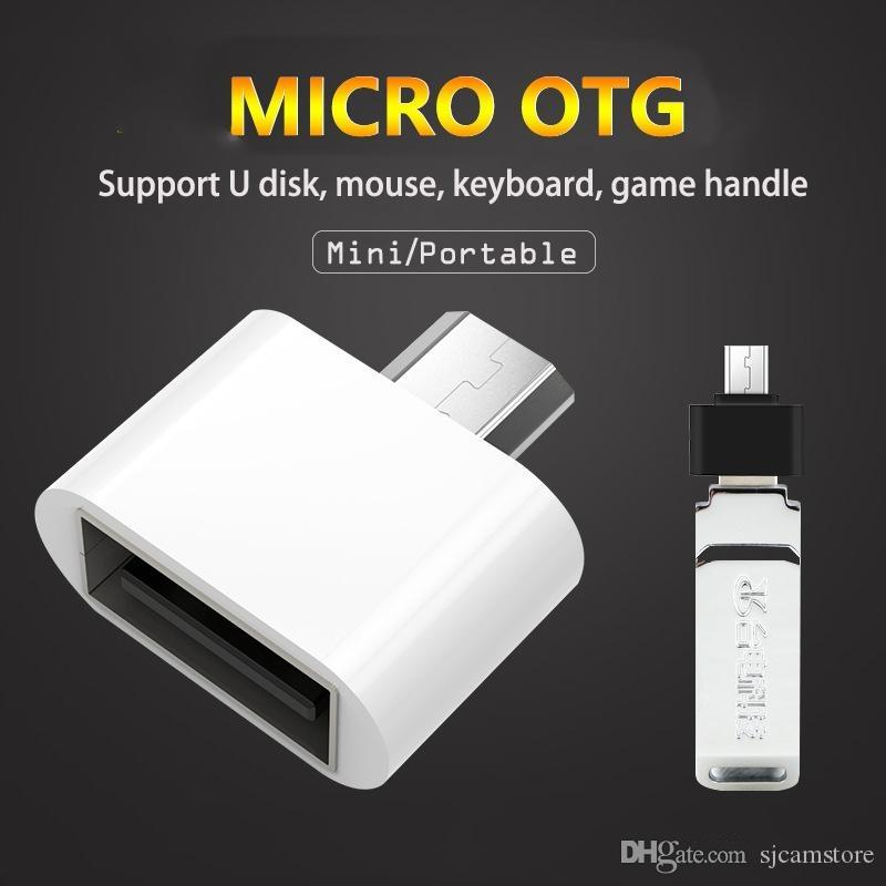 Consumer Electronics Wholesale Portable Usb To Micro Usb Otg Adapter Android Phone Tablet Pc Converter For Table Pc Phone With Otg Function Accessories & Parts