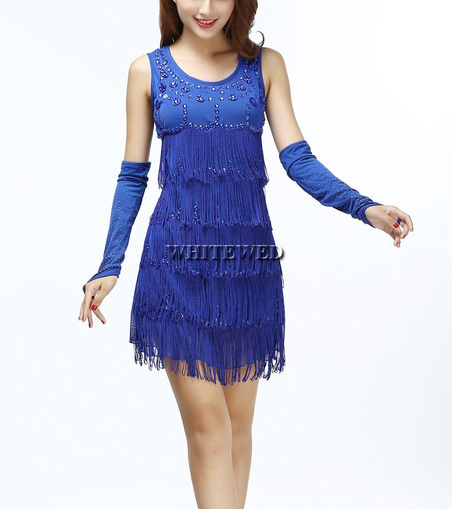 Großhandel Roaring 20s 1920er Jahren Trägerlos Quaste Fringe Perlen Vintage  Gatsby Prom Flapper Style Kleid Kleidung Oder Kostüme Schwarz Lila Rot Blau  Von ... 06d508925a