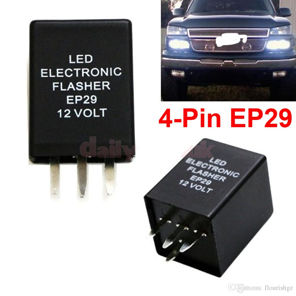 4 Pin Ep29 Led Flasher Decoder Pins Electronic Relay Car Fix Blinker Circuit Smd Turn Signal Light Error Flashing 12v 10a Abs Lamp Automotive From