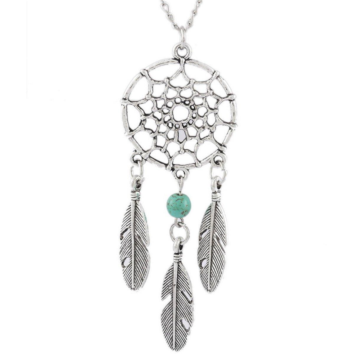 Lily Fashion Dream Catcher Pendant Chain Necklace With