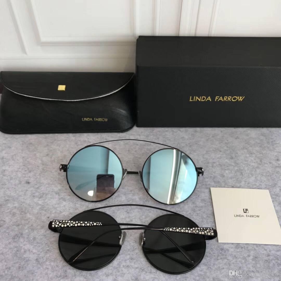 Compre Mulheres Design Rodada Estrelas Óculos De Sol Loira Lente Azul Preto  55mm Designer De Moda Óculos De Sol Nova Marca Com Caixa De Yogaw, ... c793f9fa57