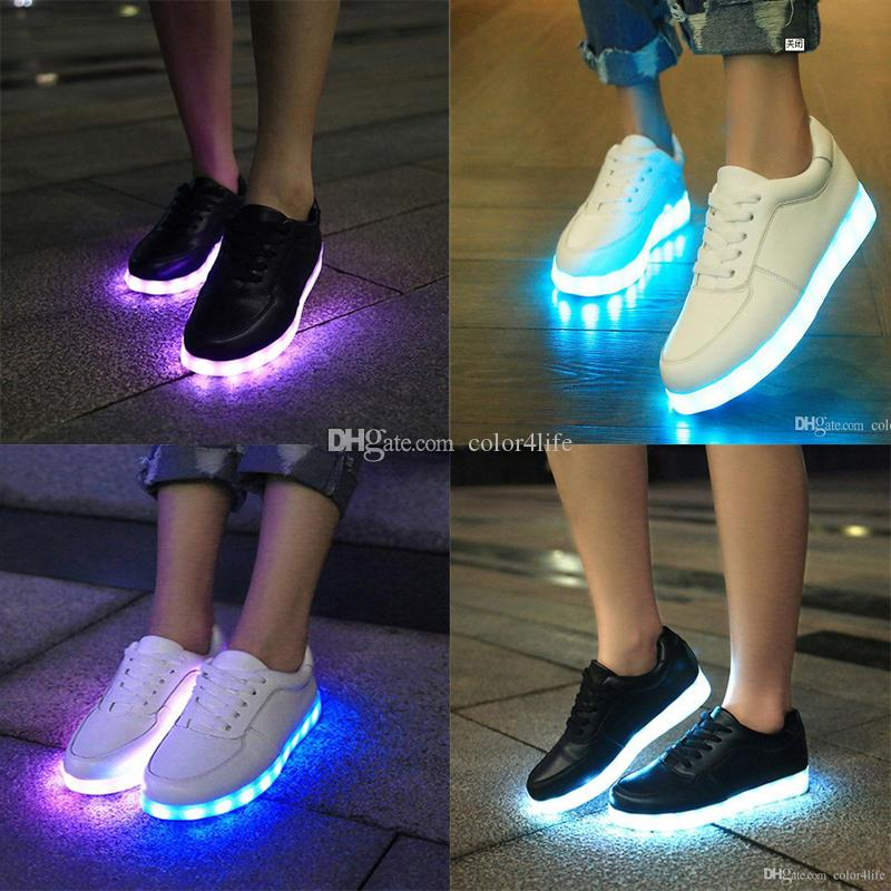 Hot USB Charging LED Shoes Luminous Lighting Shoe Unisex LED Sneaker Light  Glowing Couples Casual Shoes Men   Women Shoe Free Ship Shoe Sale Shoes Uk  From ... 7e143c684c5d