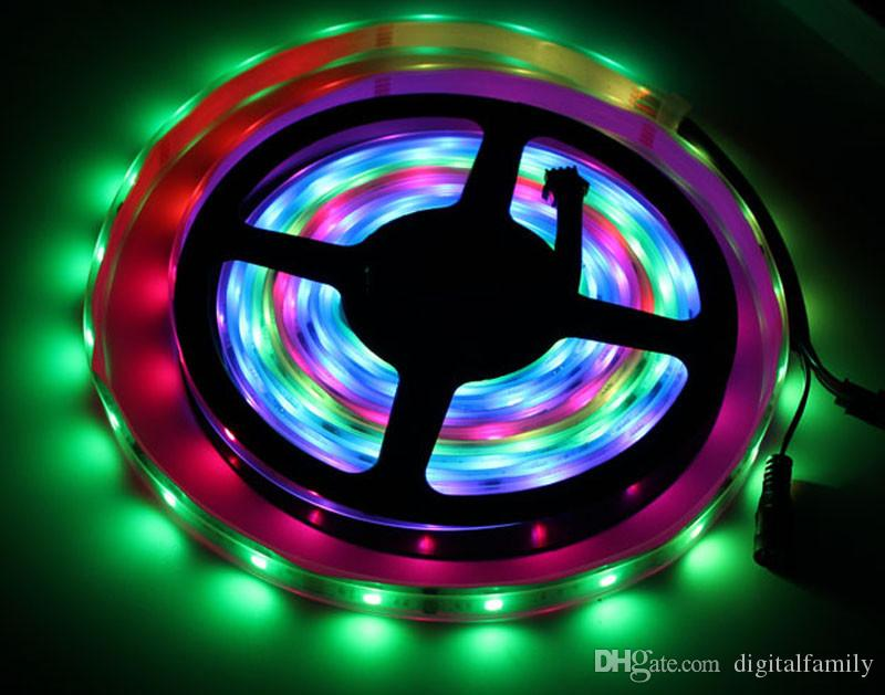Magic LED Strip Dream Color 6803 IC 5050 RGB SMD Light 150 LEDs 5M waterproof Program With Controller 2015 New Arrival By DHL