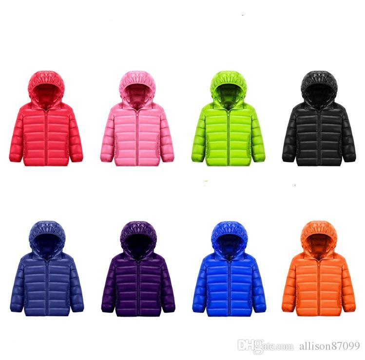 f244f8f7a35a Kids Down Coat Hooded Ultra Light Down Jacket For Boy Girl Unisex ...