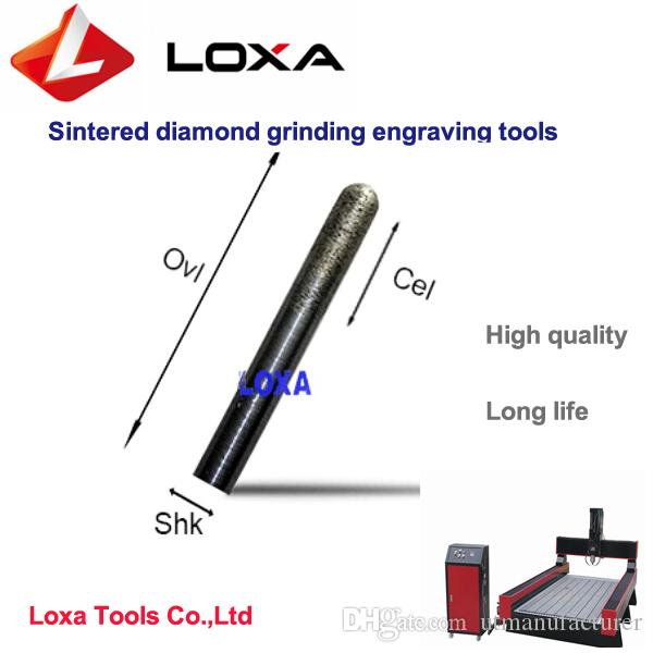 LOXA high quality Sintered diamond grinding engraving tool,CNC stone engraving bits,F-series Conical ball head Drill bit