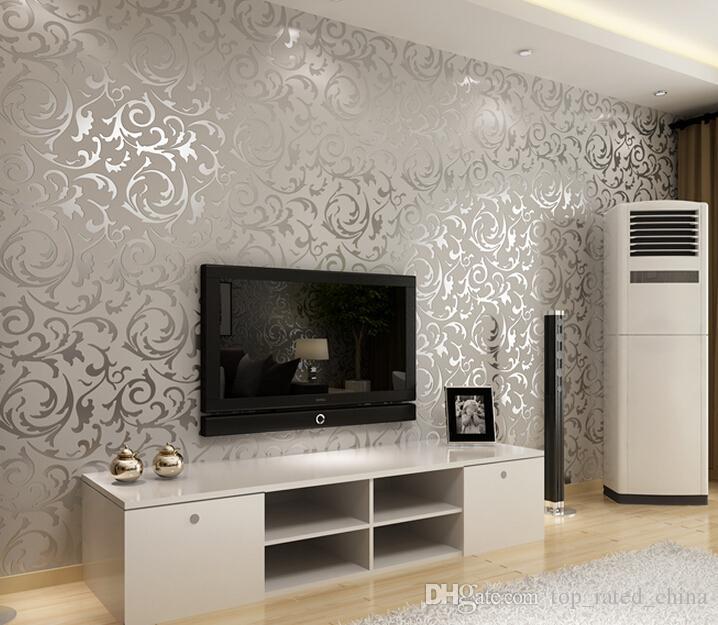 Großhandel 4 Farben Luxus Samt Viktorianischen Tapete Tv Hintergrund Wand  Umgebung Papiere Wohnkultur Für Wohnzimmer 3d Geprägt Von Top_rated_china,  ...