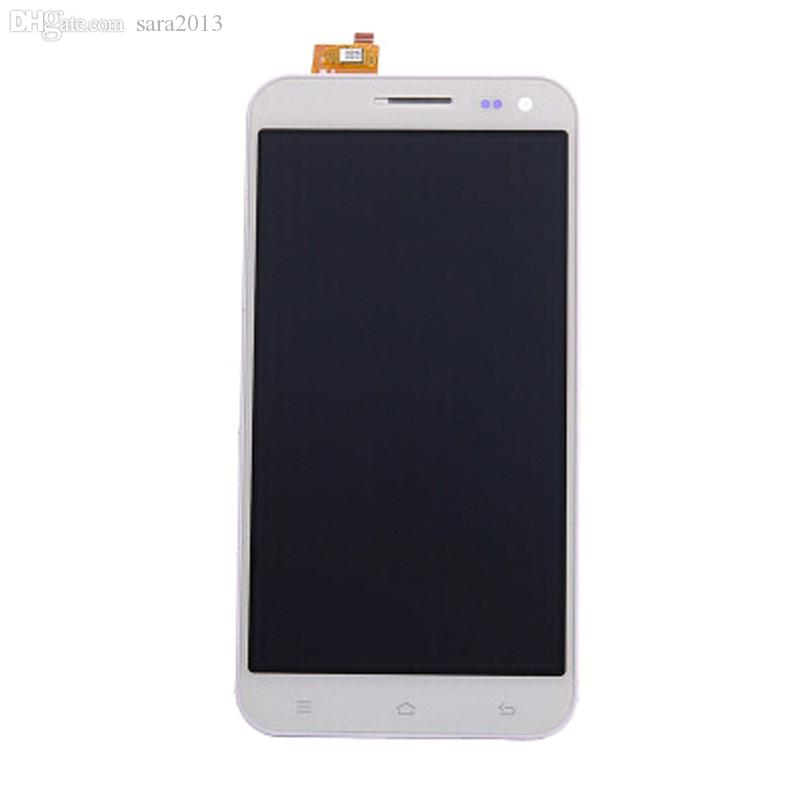 "Wholesale-In Stock! White Color LCD Display Digitizer Touch Screen Glass Assembly For ZOPO ZP 9520 ZP998 Cell Phone 5.5"" LCD Free"