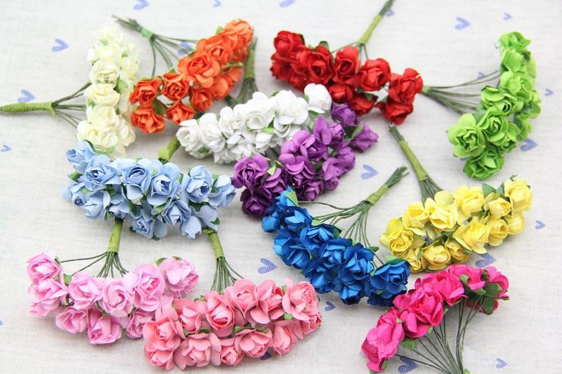 2018 18cm Artificial Mini Mulberry Paper Rosesdiy Crafts