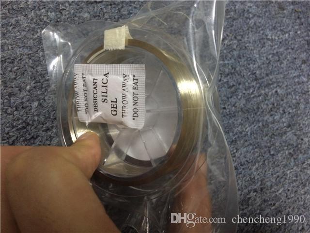 Alta calidad nueva línea de alambre de molibdeno de 0.08 MM de oro / cable para Iphone 4 / 4s / 5 6 6S Samsung S4 / S3 separador de vidrio restaurar máquina de reparación