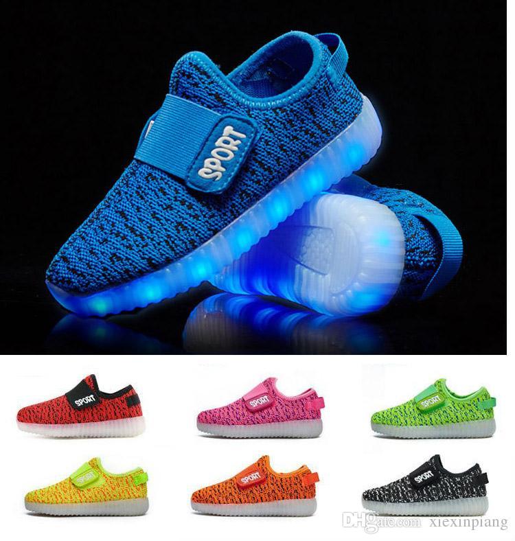 Ragazze Usb Con Slip Scarpe Air Sneakers Traspirante Bambini Ricaricabile  On Mesh Luminoso Sportive Per Luci Led Ragazzi qOwFHA b93cddddf1b