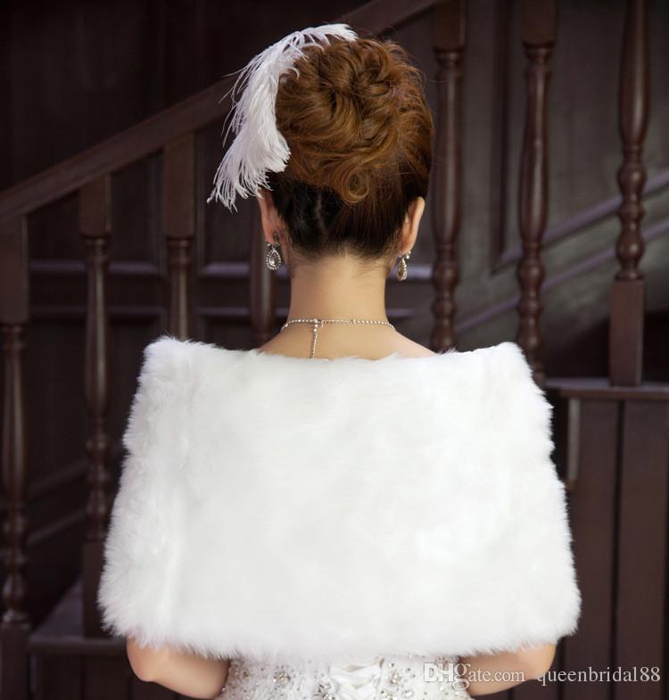 Meilleure vente 2019 Mesure de mariée chaude chaude chaude / châle Blanc Mariage Banquet Femmes Bolero Grossiste