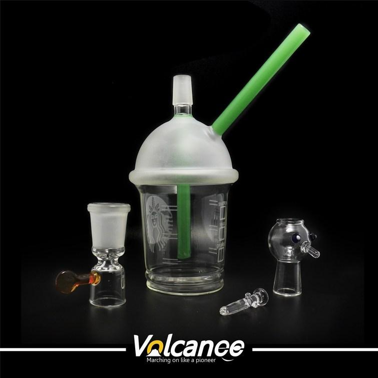 water pipe starbuck Cup glass bong 3 types dabber oil rig Dabuccino Evol glass bubbler bongs dome nail hookah Hookah water pipe
