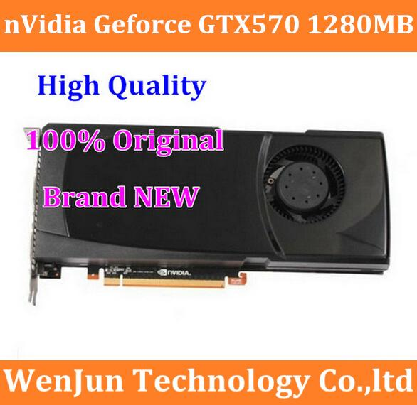 100% New High Quality Orighinal Geforce GTX570 1280MB PCI-E Video Graphic Card Graaphic card GTX 570 order<$18no track